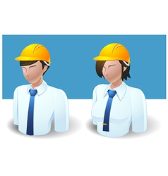 People icons engineer man and women vector