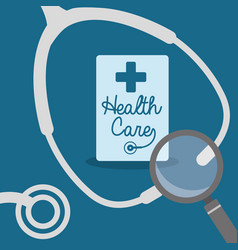 Stethoscope search health care vector
