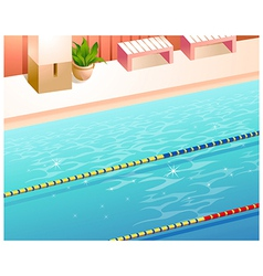 Swimming pool lanes vector