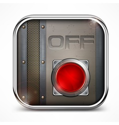 Off switch button vector