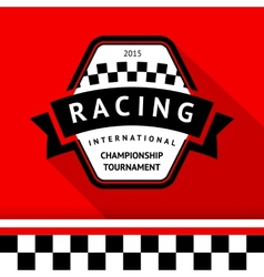 Racing badge 05 vector image