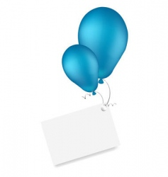 Celebration balloons vector