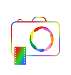 Abstract image of a professional digital camera vector