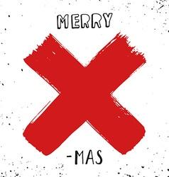 Merry X-mas vector image