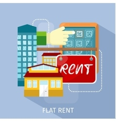 Flat rent price design concept vector