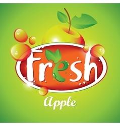 Fresh apple juice with fruit vector