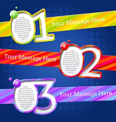 Modern design templates with numbers and striped vector