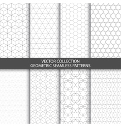 Geometric ornamental patterns vector image