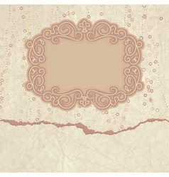 Vintage valentines filigree card vector