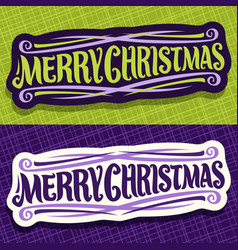 banners for christmas vector image vector image