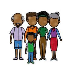 Big family embraced together relationship image vector