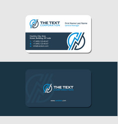 Business card with a thunderstorm vector