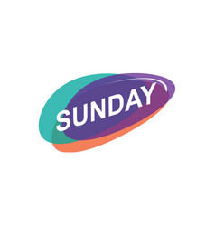 Colorful sunday icon vector