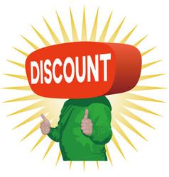 Discount man vector