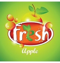 Fresh apple juice with fruit vector