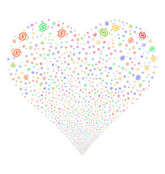 galaxy fireworks heart vector image vector image