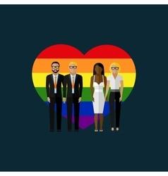Gay marriage flat vector