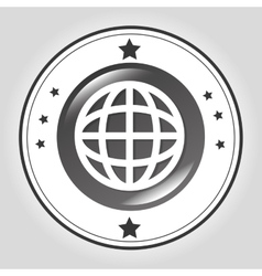 Global sphere line icon vector