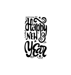 Happy new year 2017 hand-lettering text handmade vector