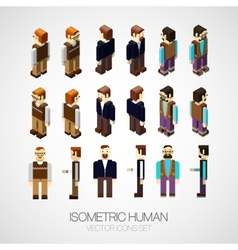 isometric human set vector image