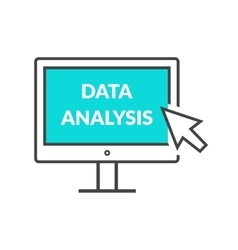 Marketing Data Analytics Analyzing Statistics vector image