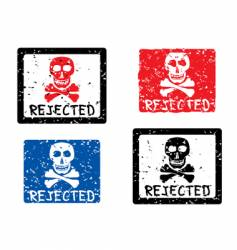 REJECTED grunge stamp vector image