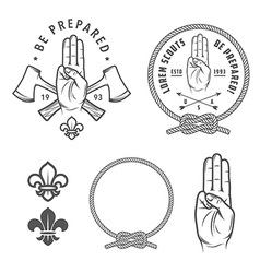 Scout symbols and design elements vector