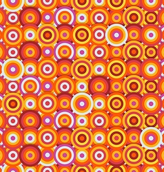 Seamless pattern of different circles Abstract vector image vector image