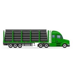 Semi truck trailer concept 08 vector