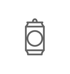 simple beer can line icon symbol and sign vector image