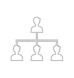 social media marketing sign black dotted vector image