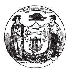 The official seal of the us state of wisconsin in vector