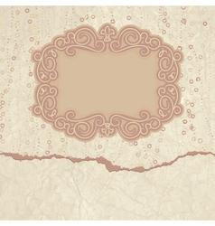 Vintage Valentines Filigree Card vector image vector image