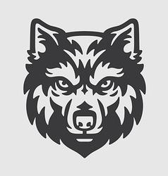 Wolf Head Logo Mascot Emblem vector image