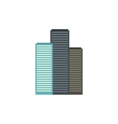 Skyscrapers in singapore icon flat style vector