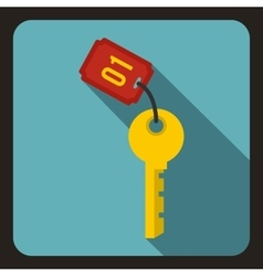 Hotel key icon flat style vector