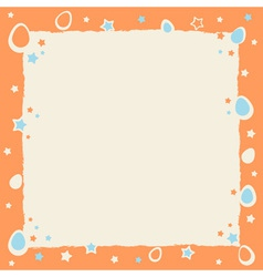 Easter eggs colorful frame with grunge borders vector