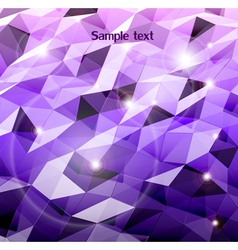 Abstract violet background Combination of triangle vector image
