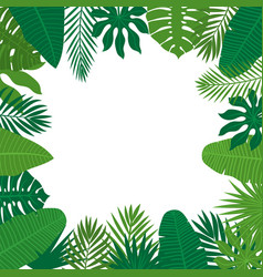 Abstract background with tropical leaves jungle vector