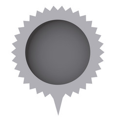 Grayscale cloud circle chat bubble vector