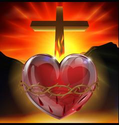 The sacred heart vector