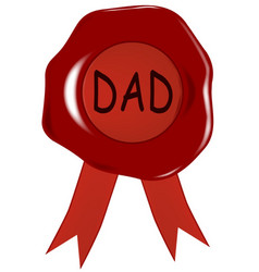 Fathers day wax stamp vector