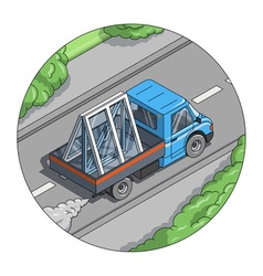 Car carry window vector
