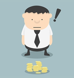 Fat businessmen see found money vector