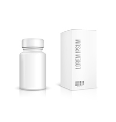 Medicine bottle on white background vector