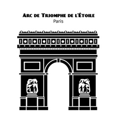 Arc de triomphe arch of triumph of the star in vector