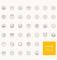 Emoticons outline icons for web and mobile apps vector