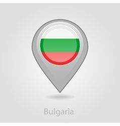 Bulgaria flag pin map icon vector image