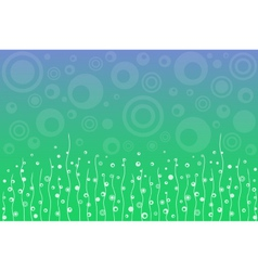 Abstract blue-green floral background vector image vector image