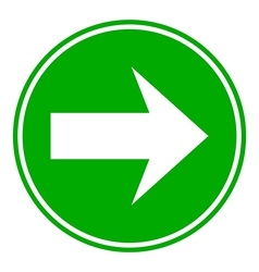Arrow sign button vector
